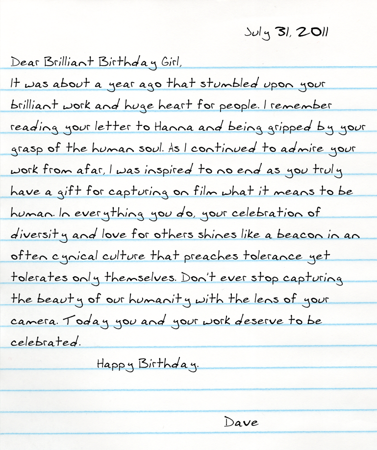 Dear Brilliant Birthday Girl, It was about a year ago that stumbled ...